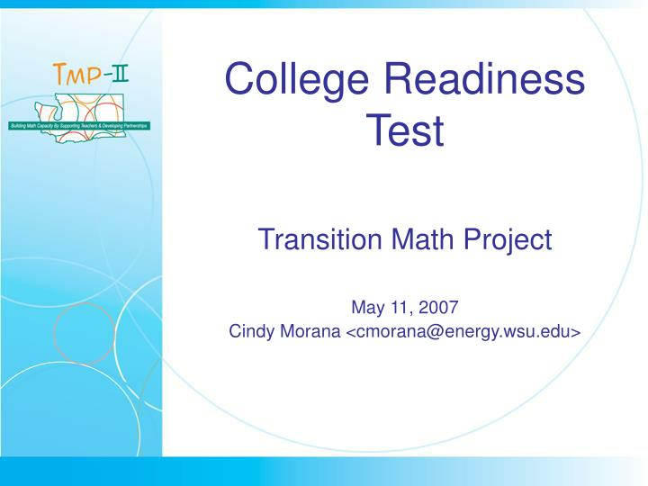 College Readiness Test