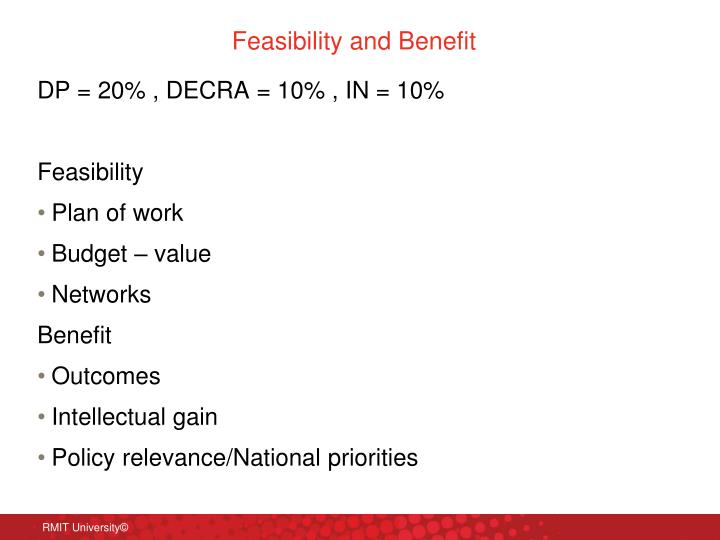 Feasibility and Benefit