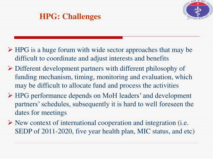 HPG: Challenges