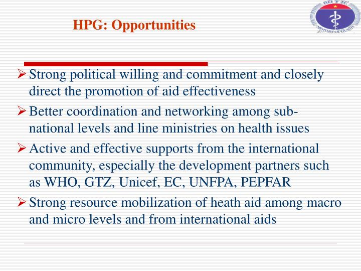 HPG: Opportunities