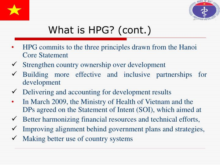 What is HPG? (cont.)