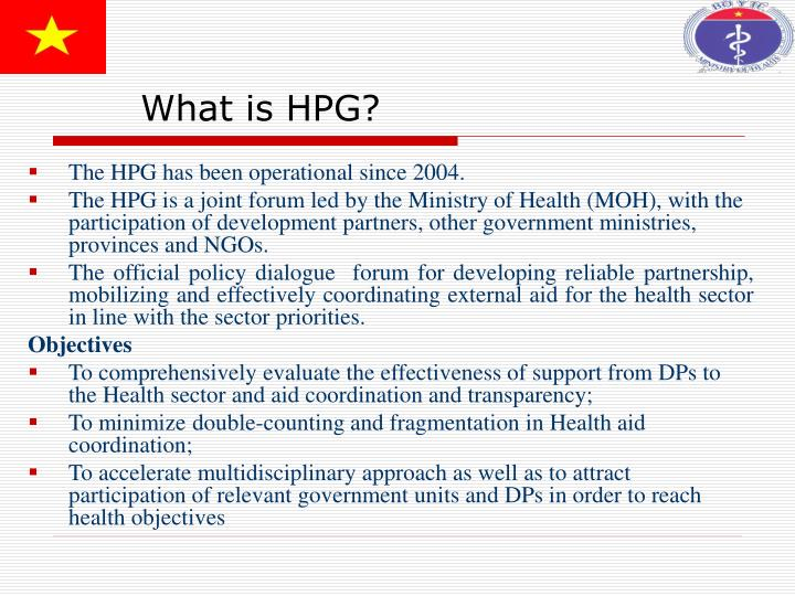 What is HPG?