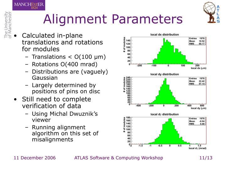 Alignment Parameters