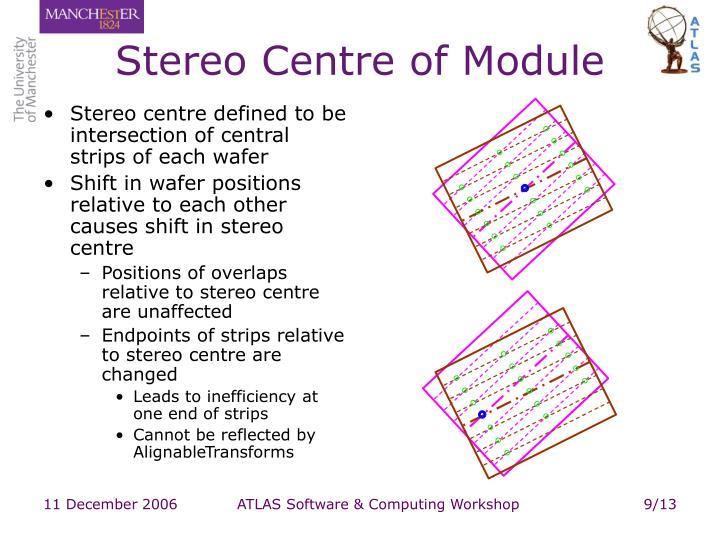 Stereo Centre of Module