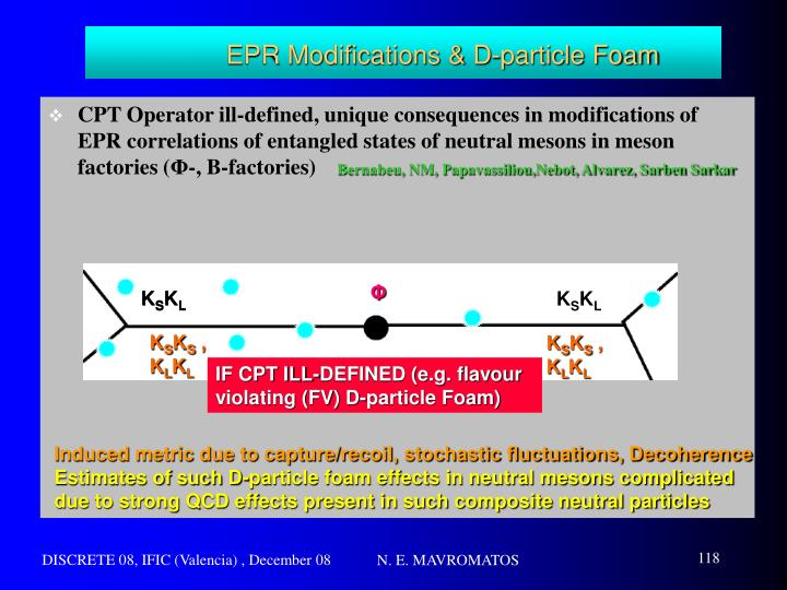 EPR Modifications & D-particle Foam