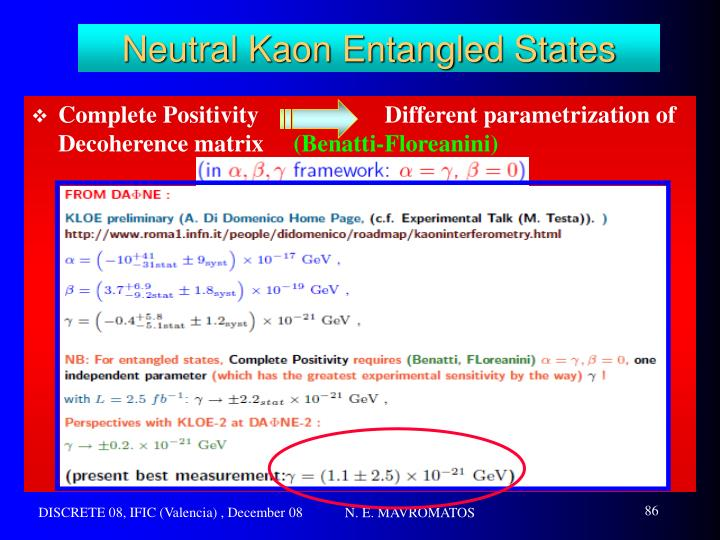 Neutral Kaon Entangled States