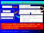 non commutative effective field theories