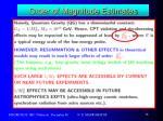 order of magnitude estimates1