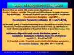 order of magnitude estimates10