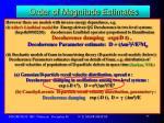 order of magnitude estimates11