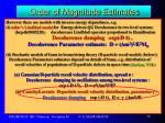 order of magnitude estimates12