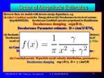 order of magnitude estimates13