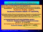 order of magnitude estimates14