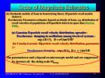 order of magnitude estimates15