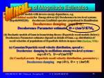 order of magnitude estimates17
