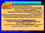 order of magnitude estimates18