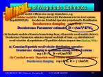 order of magnitude estimates19
