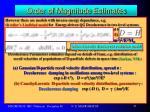 order of magnitude estimates4