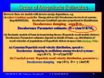 order of magnitude estimates6