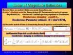 order of magnitude estimates9