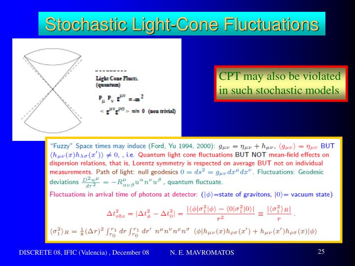 Stochastic Light-Cone Fluctuations
