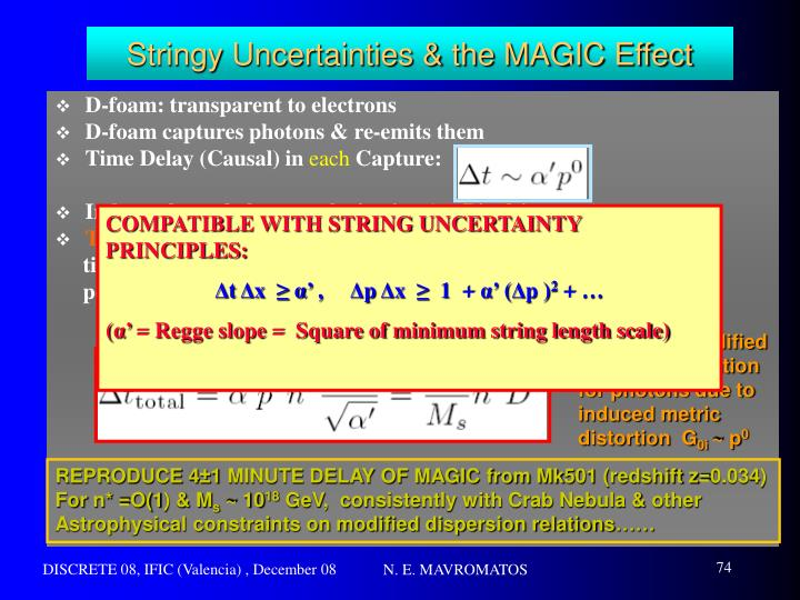 Stringy Uncertainties & the MAGIC Effect