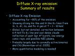 diffuse x ray emission summary of results