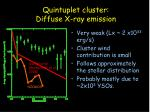 quintuplet cluster diffuse x ray emission