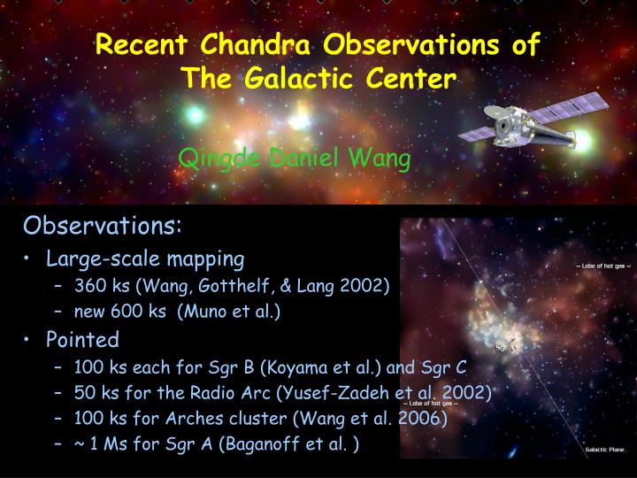 Recent Chandra Observations of
