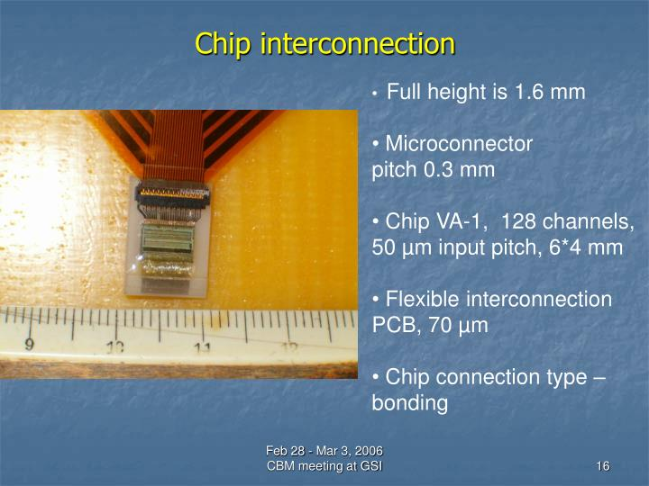 Chip interconnection