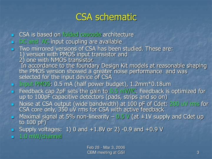 CSA schematic