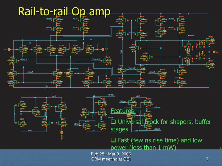 Rail-to-rail Op amp
