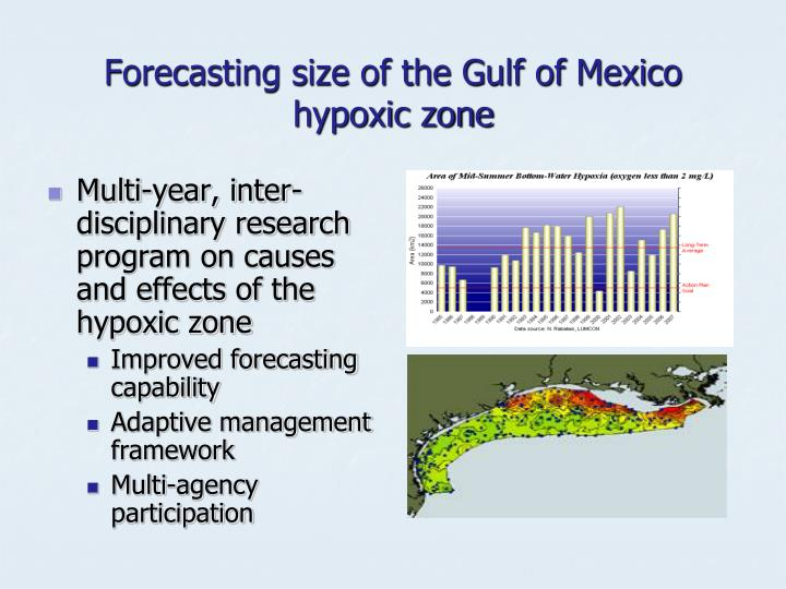 Forecasting size of the Gulf of Mexico hypoxic zone