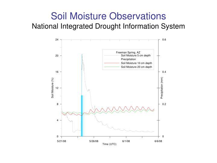 Soil Moisture Observations