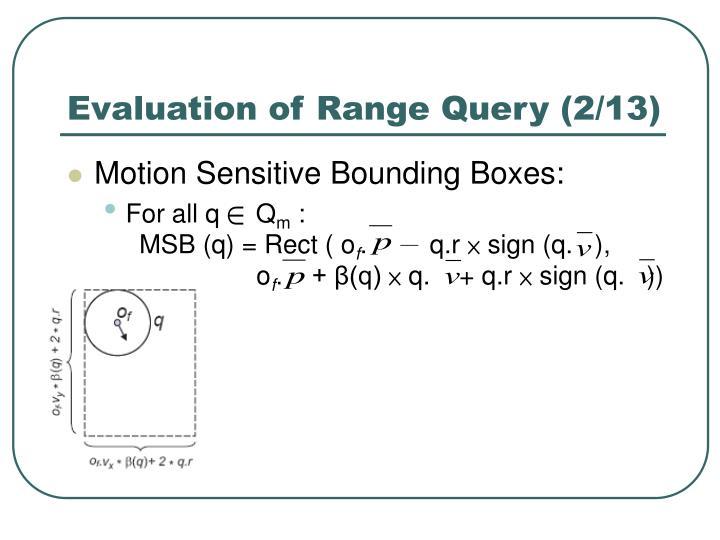 Evaluation of Range Query (2/13)