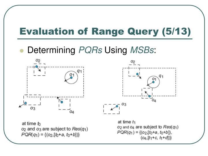 Evaluation of Range Query (5/13)