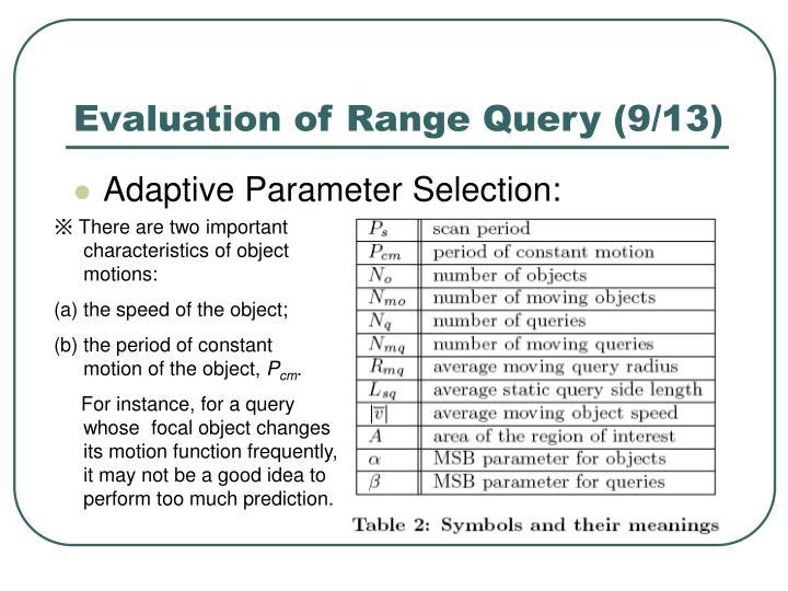 Evaluation of Range Query (9/13)