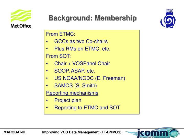 Background: Membership