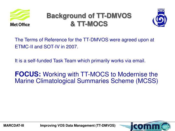 Background of TT-DMVOS