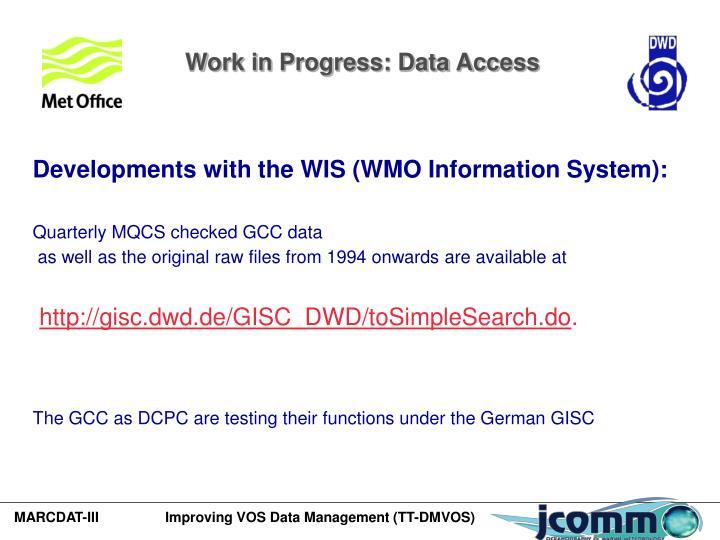 Work in Progress: Data Access