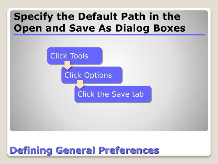 Defining General Preferences