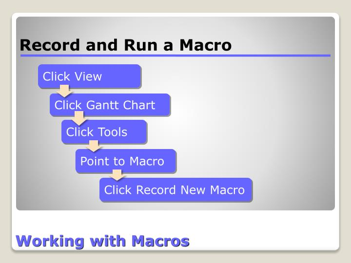 Working with Macros