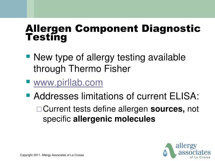 Allergen Component Diagnostic Testing