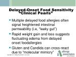 delayed onset food sensitivity clinical pearls1