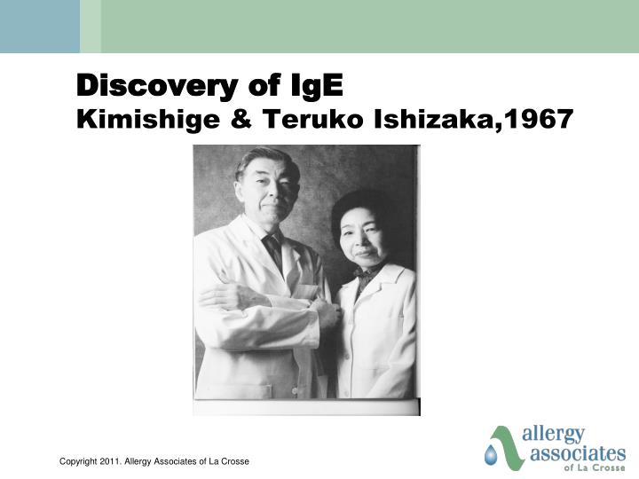Discovery of IgE