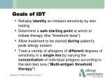 goals of idt