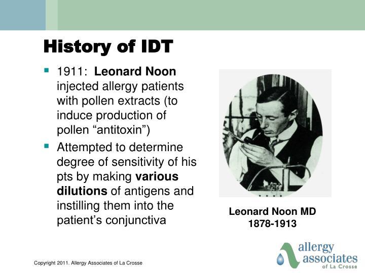 History of IDT