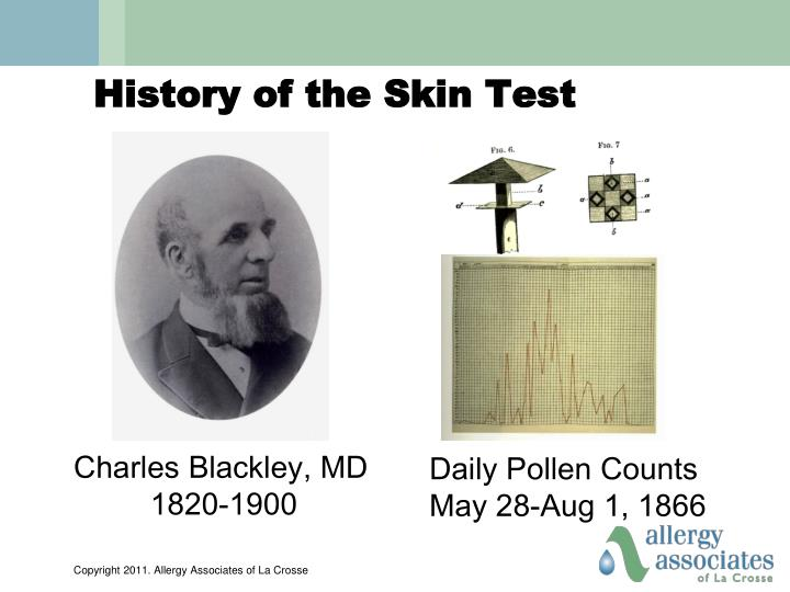 History of the Skin Test