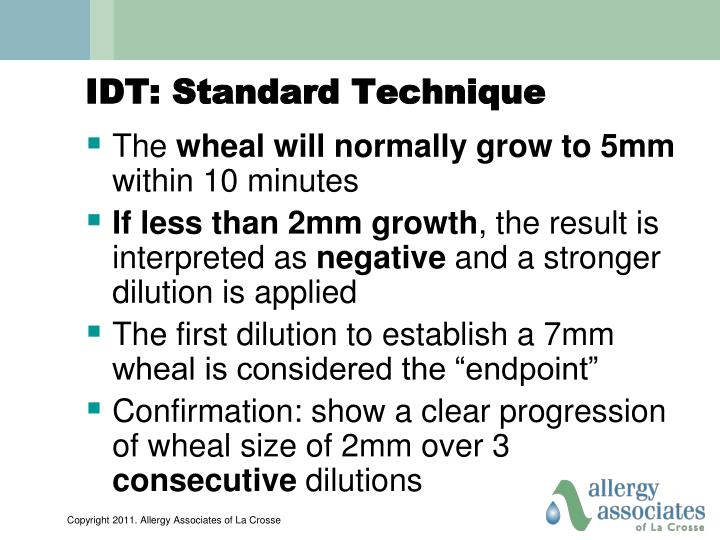 IDT: Standard Technique