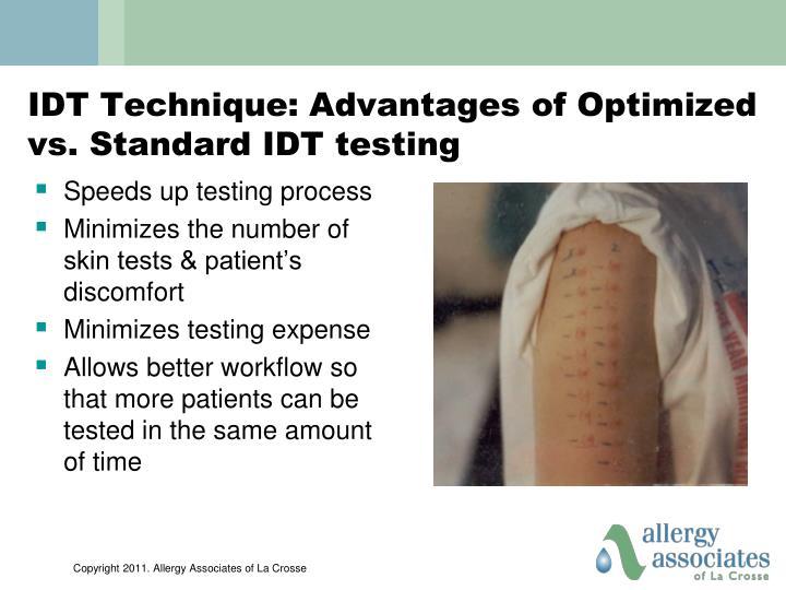 IDT Technique: Advantages of Optimized vs. Standard IDT testing